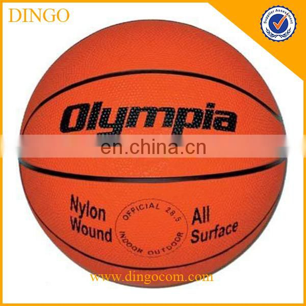 Brown rubber basketball