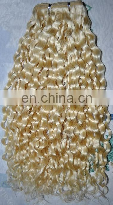 hot sale high quality honey blonde hair weft extensions water wave brazilian hair