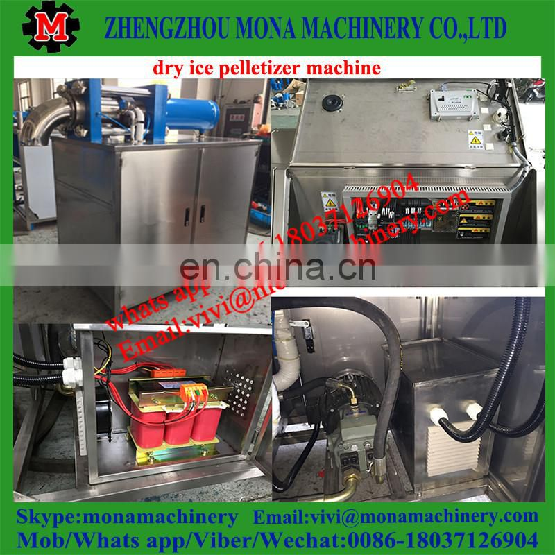 Dry ice pelletizer machine and dry ice making block machine