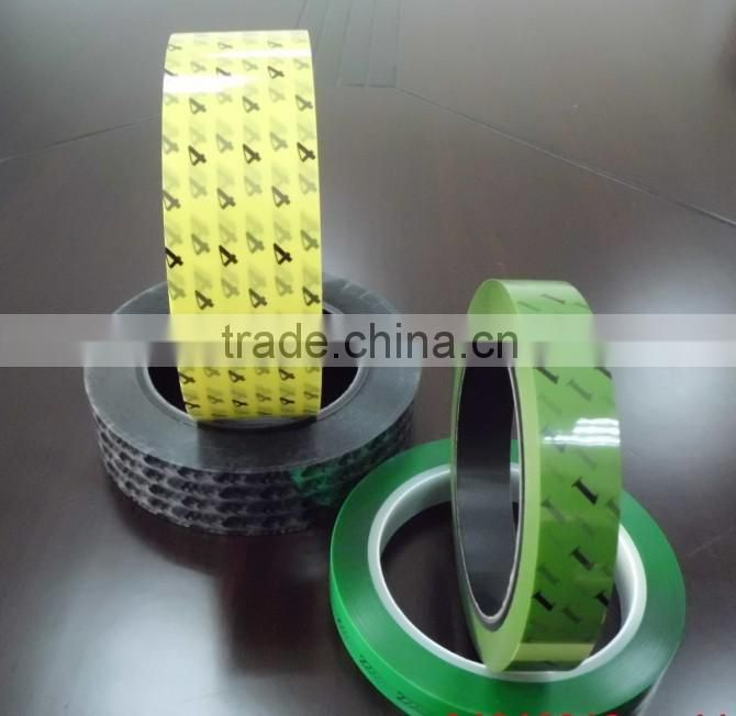 digital pp tape / printed number pp tape / green electrical tape