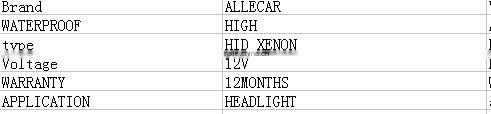 2016 Lastest hid xenon bulb /XENON Light Bulbs/ HID KIT for Cnlight