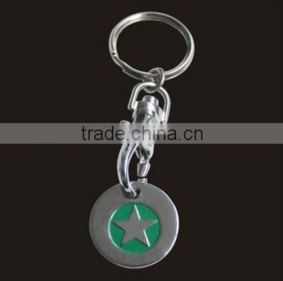 Customize Clothing metal keychain for promotion ,gift