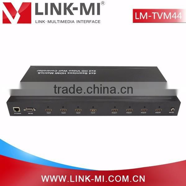LINK-MI LM-TVM44 2x2Video Wall Controller &4in4out hdmi