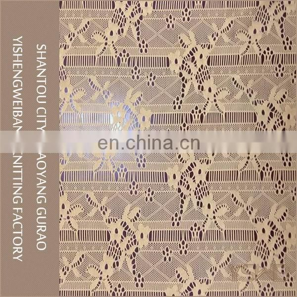 High quality comfortable knitted elastic tulle lace fabric african