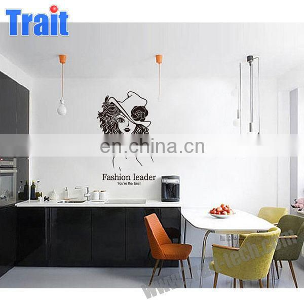 Fashion Leader Sexy Girl Living Room Bedroom Removable PVC Wall Sticker for Home Decoration Wallpaper Sticker