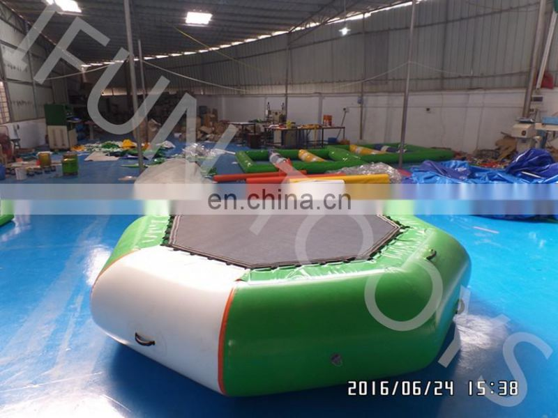 Big 16ft Inflatable water play trampoline/cheap trampolines for sale