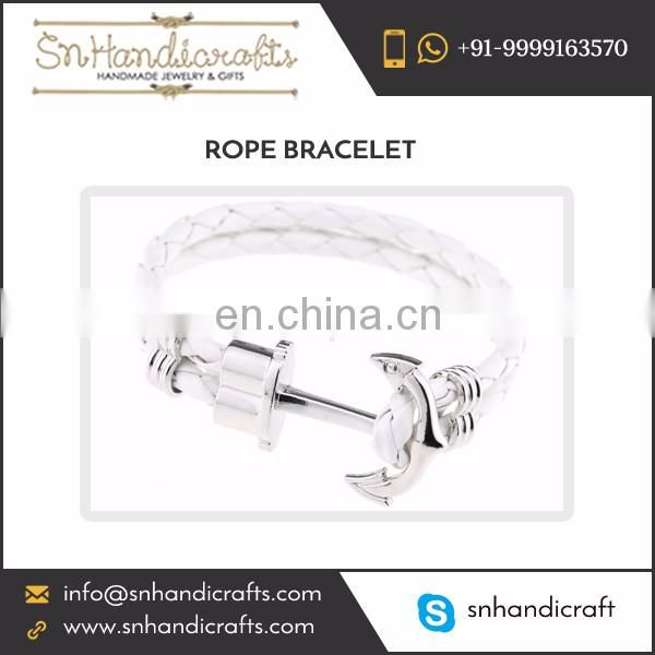 Standard Design Classy Look Rope Bracelet Available in Various Sizes and Colors