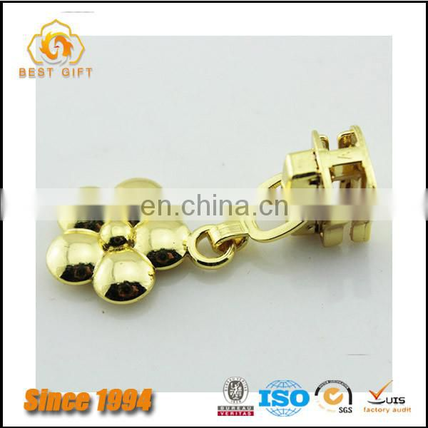 Wholesale Custom Cloth Accessories Gold Logo Metal Zippers for Jacket