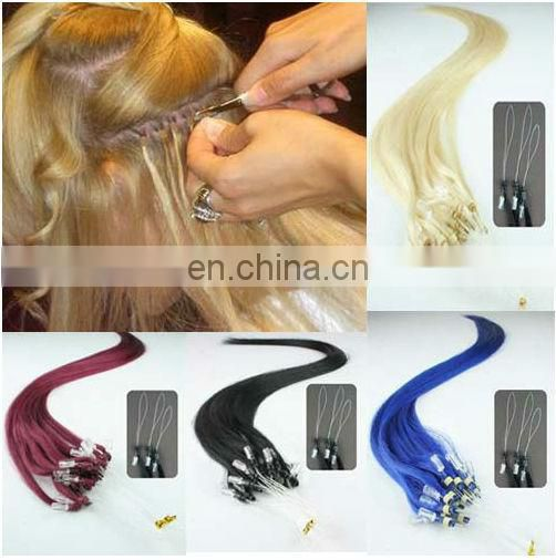 Top Quality Double Drawn 100% Human Micro Ring Loop Hair Extension