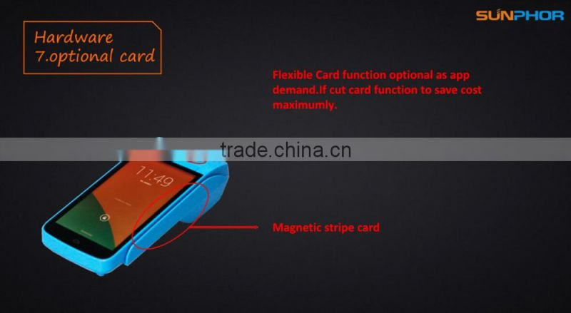 6 inch handheld NFC and magnetic stripe readers android pos