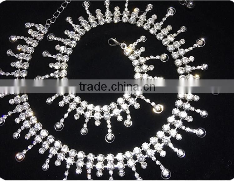 Wuchieal Wholesale Silver Beaded Belly Dance Waist Chain