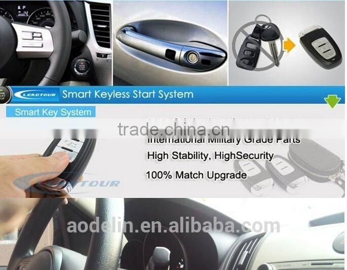 PKE Remote engine start stop system Push start button keyless entry with can-bus smart key for Hyundai Verna 2015