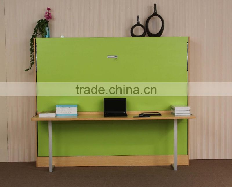 High Quality Horizontal Type Folding Wall Bed Mechanism Kits With A Desk Hardware