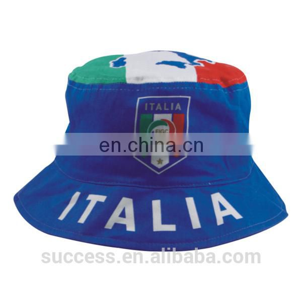 Italy printing bucket hat