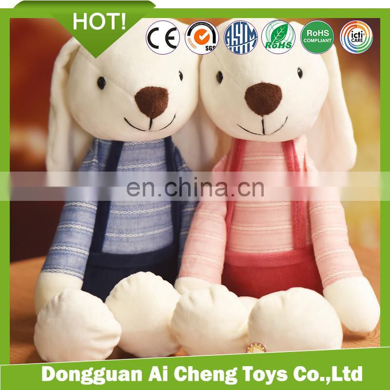 CE testing various animal story plush hand puppets wolf and rabbit