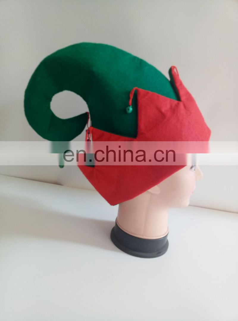 christmas funny man woman hat adult felt elf top hat with jingle bells