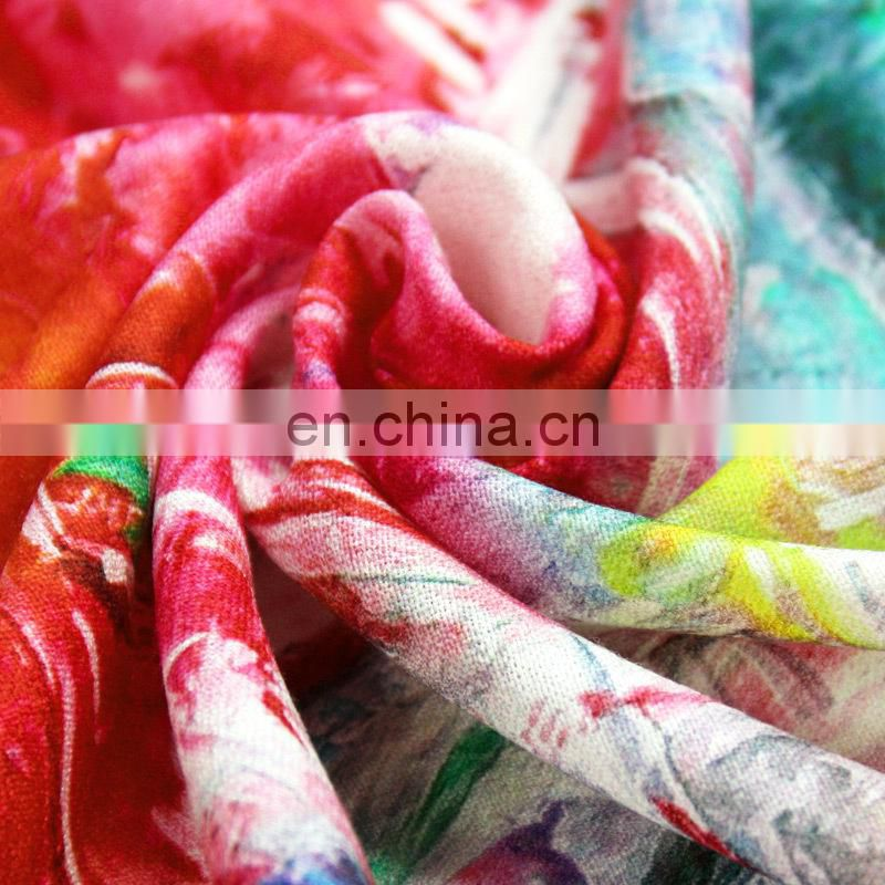 Valentine's day gifts winter digital printing women woolen scarves