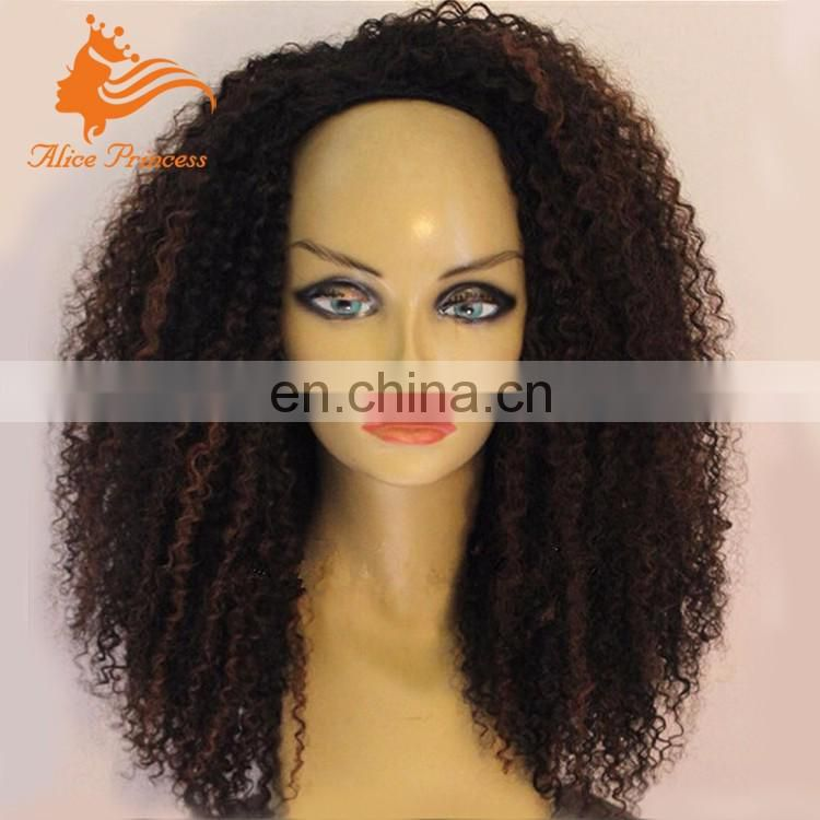 Natural Color Malaysian Human Curly Hair Wig Monofilament Wig Cap Lace Front Kinky Curly Wig For Black Women