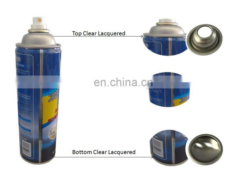 Empty aerosol spray can with cmyk printing for car care or housecare
