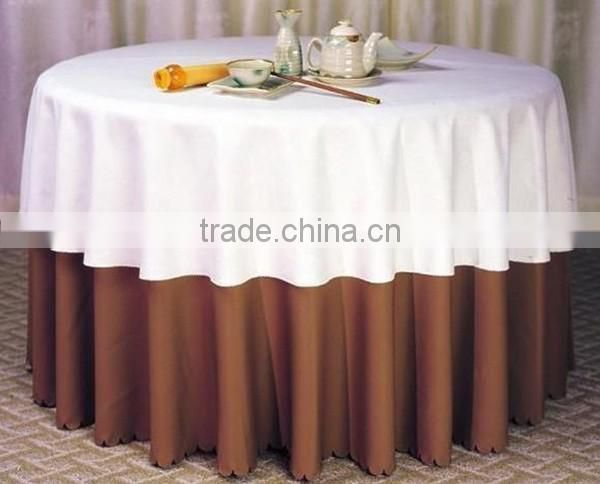 hotel tablecloth , jacquard simple table cloth