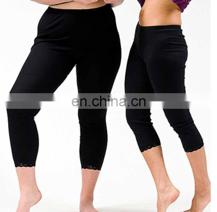 women black warm silk pants winter trousers