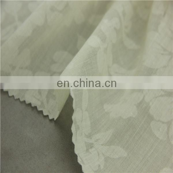 burnout fabric polyester cotton 60/40 fabric for beautiful dresses