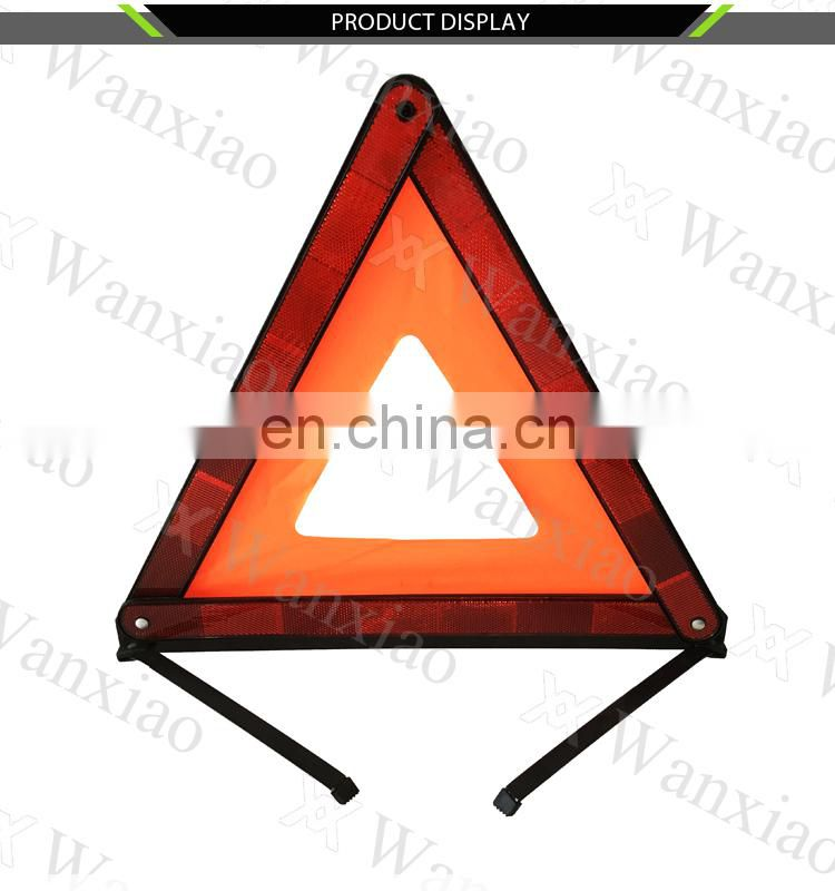 Red Safety Reflective Warning Triangle for Emergency