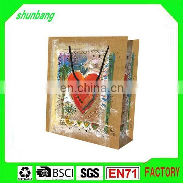 Different types charcoal & low cost gift white paper bag printing