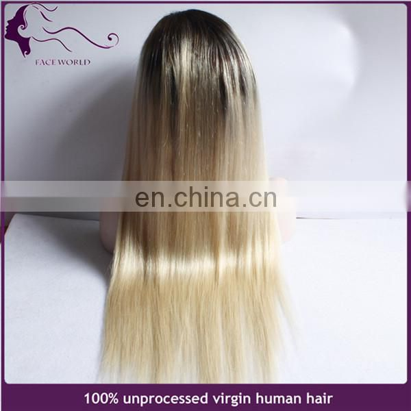 Stock fast shipping blonde wig ombre wig