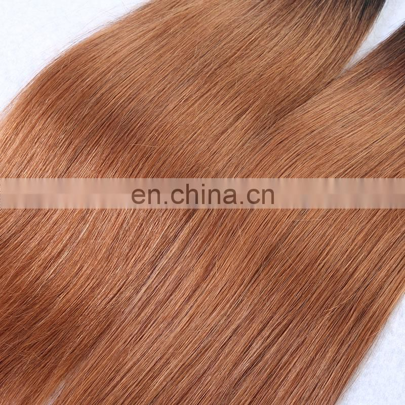 Cheap price short length only 12 14 inches high quality ombre color 1b/30# virgin human hair bundles
