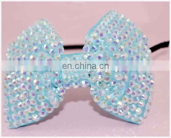 Trendy large bow cute hairbands headbands for girls