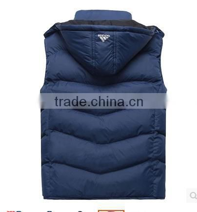 The spring and autumn winter leisure men's cotton vest vest down imitation Hooded Vest tide