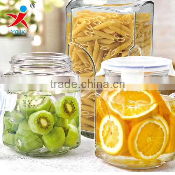 seal Storage /Transparent glass container with transparent lids