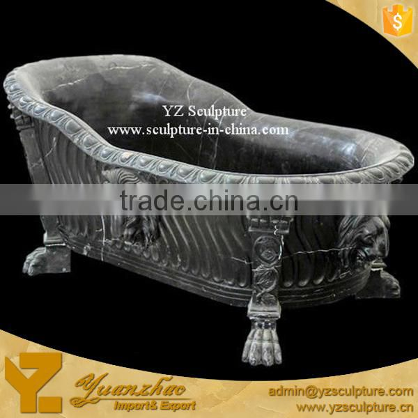 black natural stone freestanding bathtub for sale