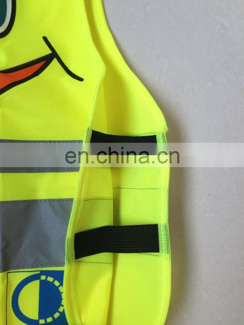 green High Visibility clothing safety vests children