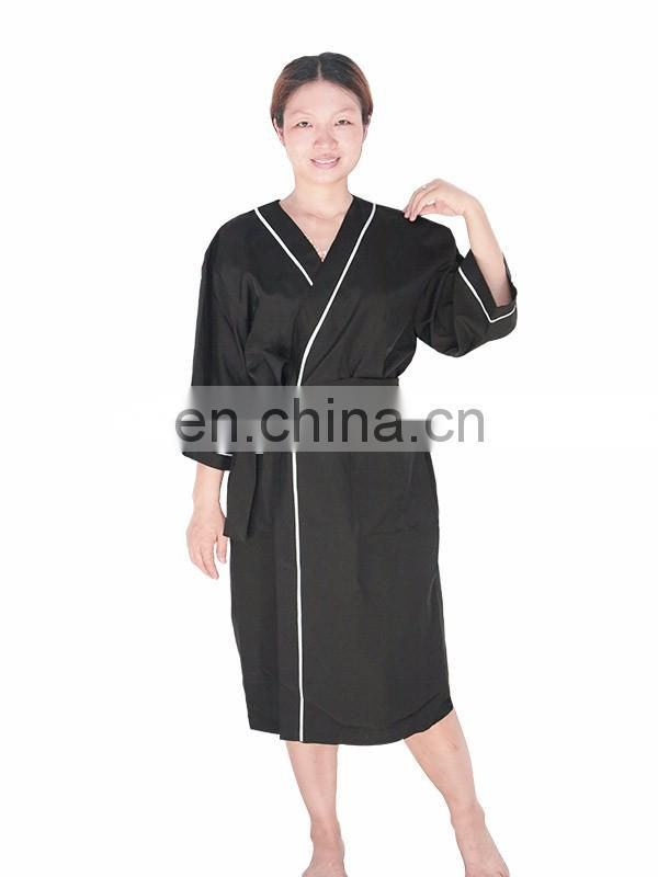 beauty barber uniforms 100% polyester work wear uniforms for hair salon