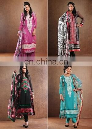 INDIAN PAKISTANI DESIGNER CELEBRITY WHOLESALE PRINTED SUMMER SEASON COTTON KURTI/SALWAR KAMEEZ DRESS COLLECTION 2015