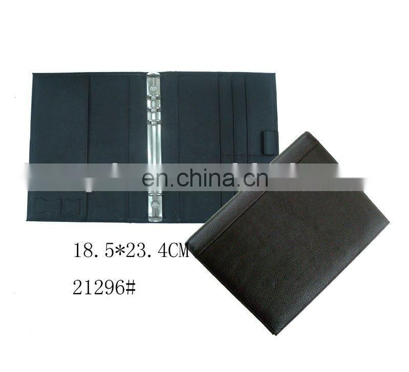 Chinese Manufacture Handcraft Leather Paper Document Folder