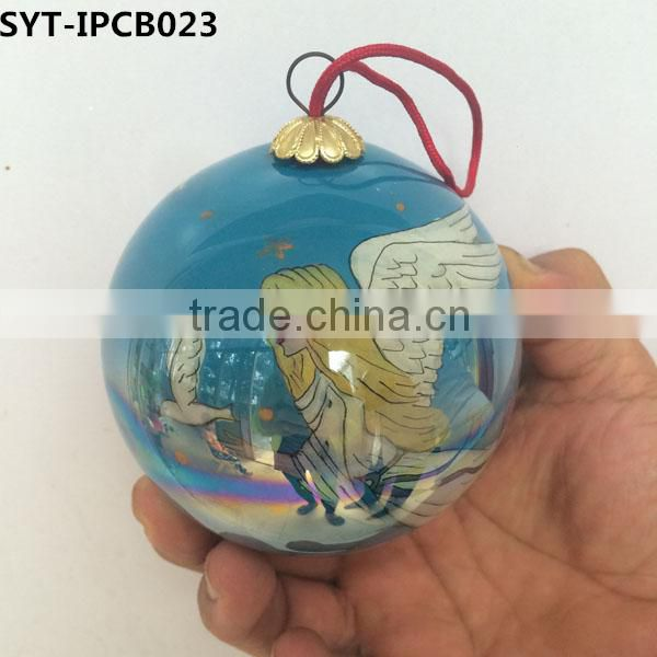 Inside painted Christmas ball