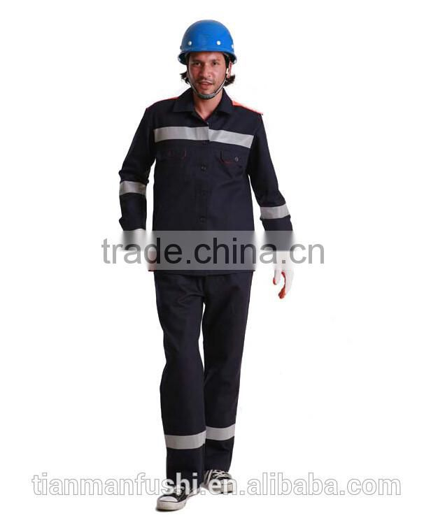 2015 Quality Black Reflective Mining Workwear Suit High Visibility Working Clothes