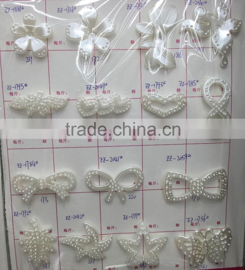 DIY fancy plastic pearl beads for bridal veil accessories