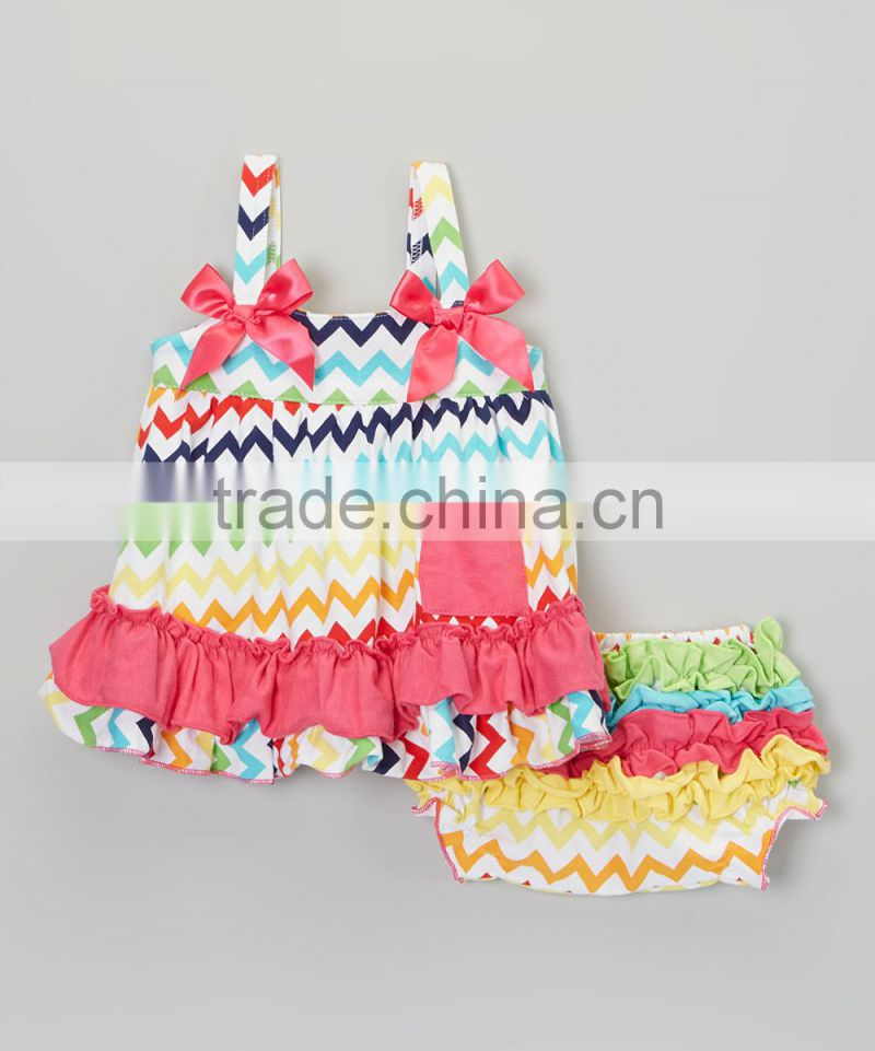 Newest Rainbow Infant Clothing Set Including Swing Top And Diaper Cover Toddler Suit Cute Baby Clothing CS90425-23