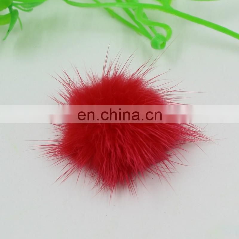 Lovely small mink fur pom pom accessory for garment/shoes