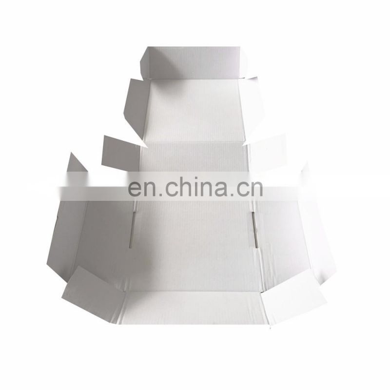 Quick assembling competitive price popupar custom shipping box with logo 8*8*3inch