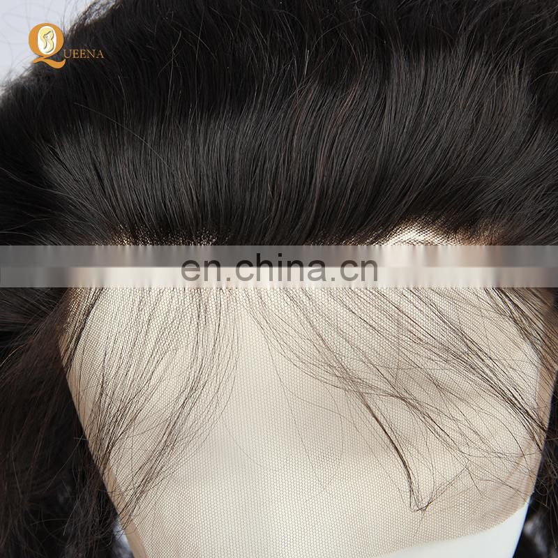 100% Virgin Human Hair Pre-Plucked 360 Lace Wig Different Textures Available