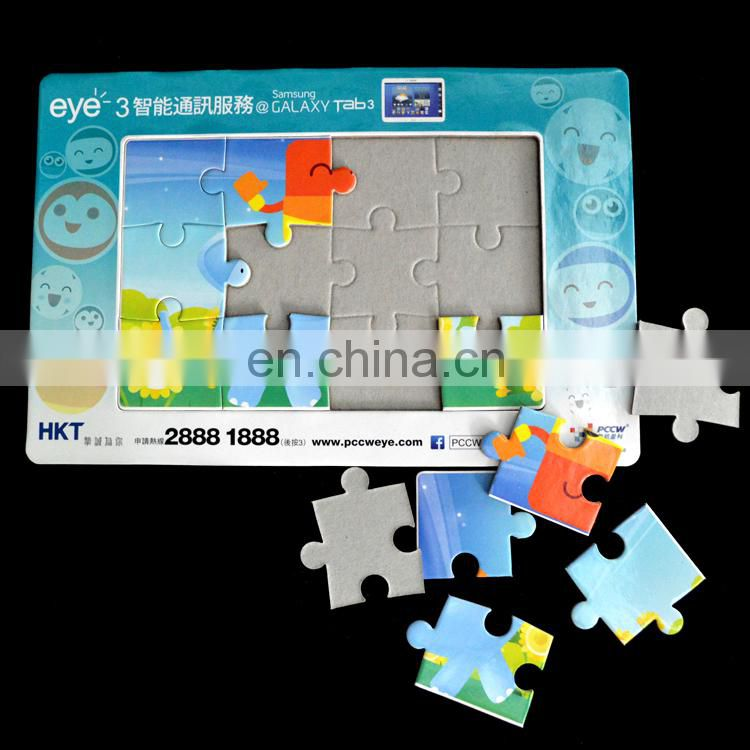 Paper cardboard high quality colorful eco A5 jigsaw puzzle