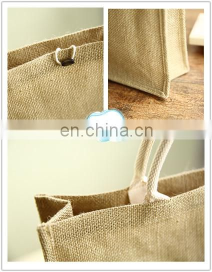 Stand-up Jute shopping bag Linen shopping bag