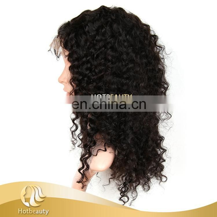 Good style durable good quality cheap curly Brazilian lace front wig