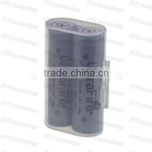 Hot sales transparent case/storage box for battery 14500 battery AA battery case 14500*2
