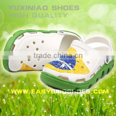 new style Brazil national flag beach shoes men, women sandals new design for adults slipper shoes sport on the beach